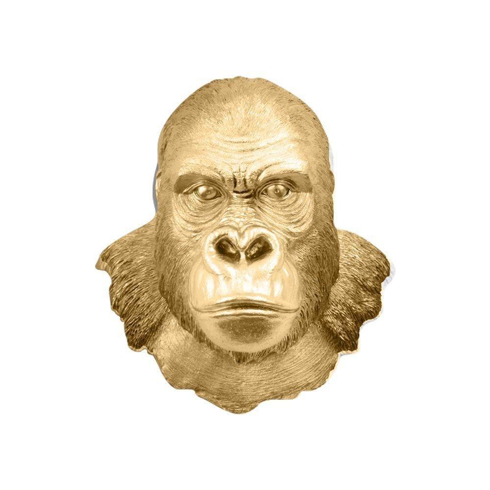The Harambe   Silverback Gorilla Head   Faux Taxidermy   Gold Resin ...
