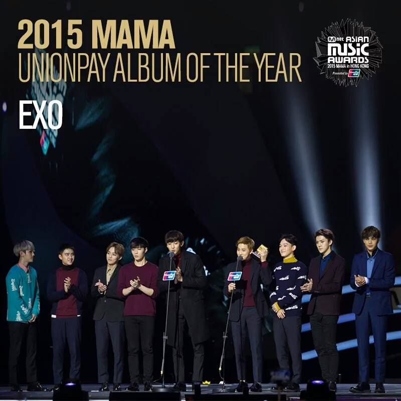 EXO won three awards in total for 2015 MAMA Awards