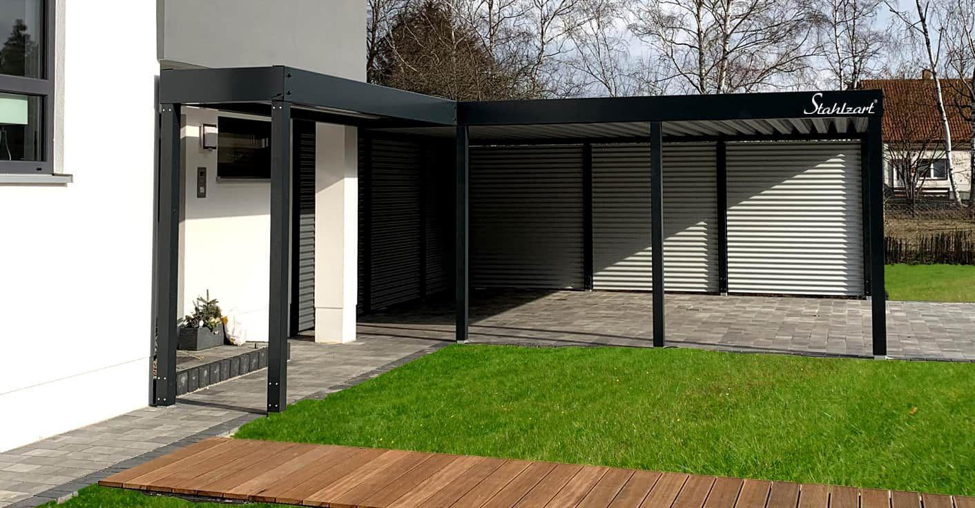 Carport Modern Prag Haus Anbau Flachdach Design Stahlzart Haus Erweiterungen Flachdach