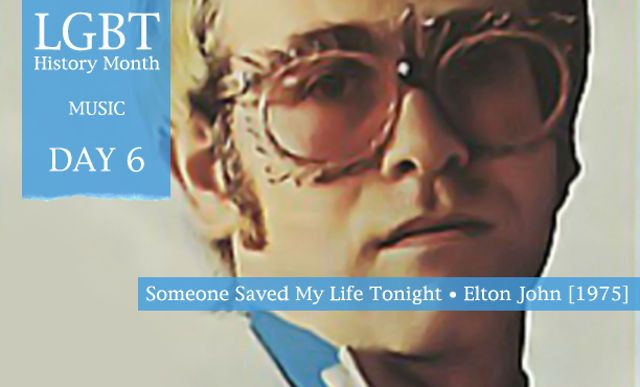 Elton John's 1975 hit Someone Saved My Life Tonight from the album Captain Fantastic And The Brown Dirt Cowboy  Someone Saved My Life Tonight by Elton John (1975) He might well be among our happiest, most well-adjusted homos (and a dad to boot) these days but, like many, it wasn't always the case for trillion-selling musician, performer, AIDS activist and all-round national treasure Reg Dwight. Back in 1969, and unhappily engaged to be married to then girlfriend Linda Woodrow, the pr…
