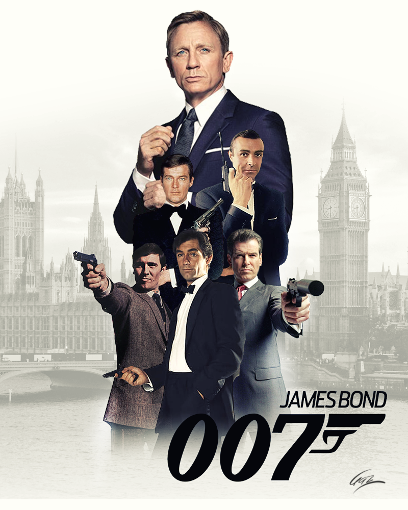 James Bond By Pzns On Deviantart James Bond Actors James Bond James Bond Theme