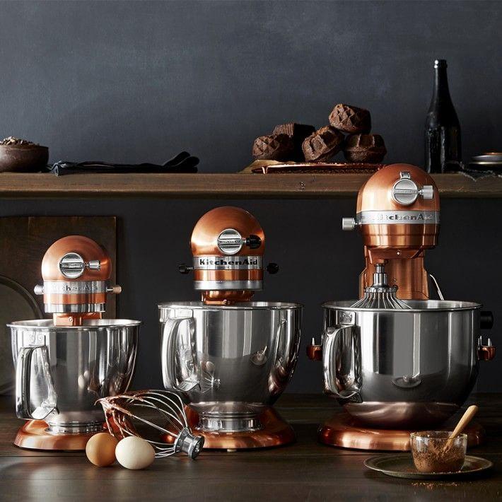 Kitchenaid Artisan Mini Stand Mixer With Flex Edge Beater Copper