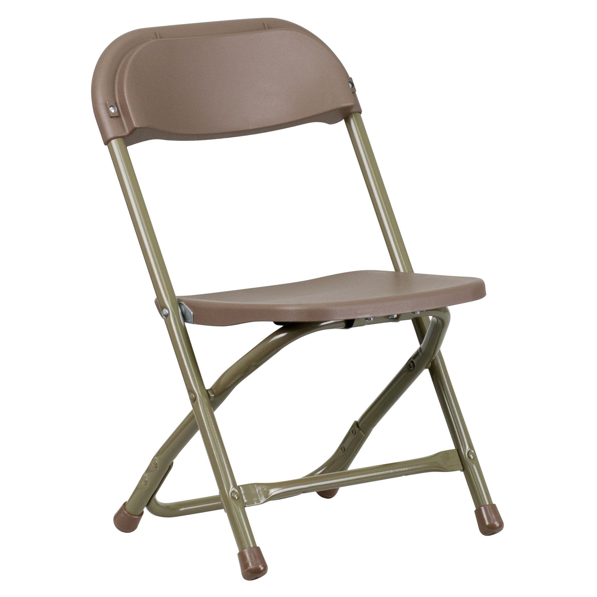 Kids Brown Plastic Folding Chair at Harvey & Haley for only