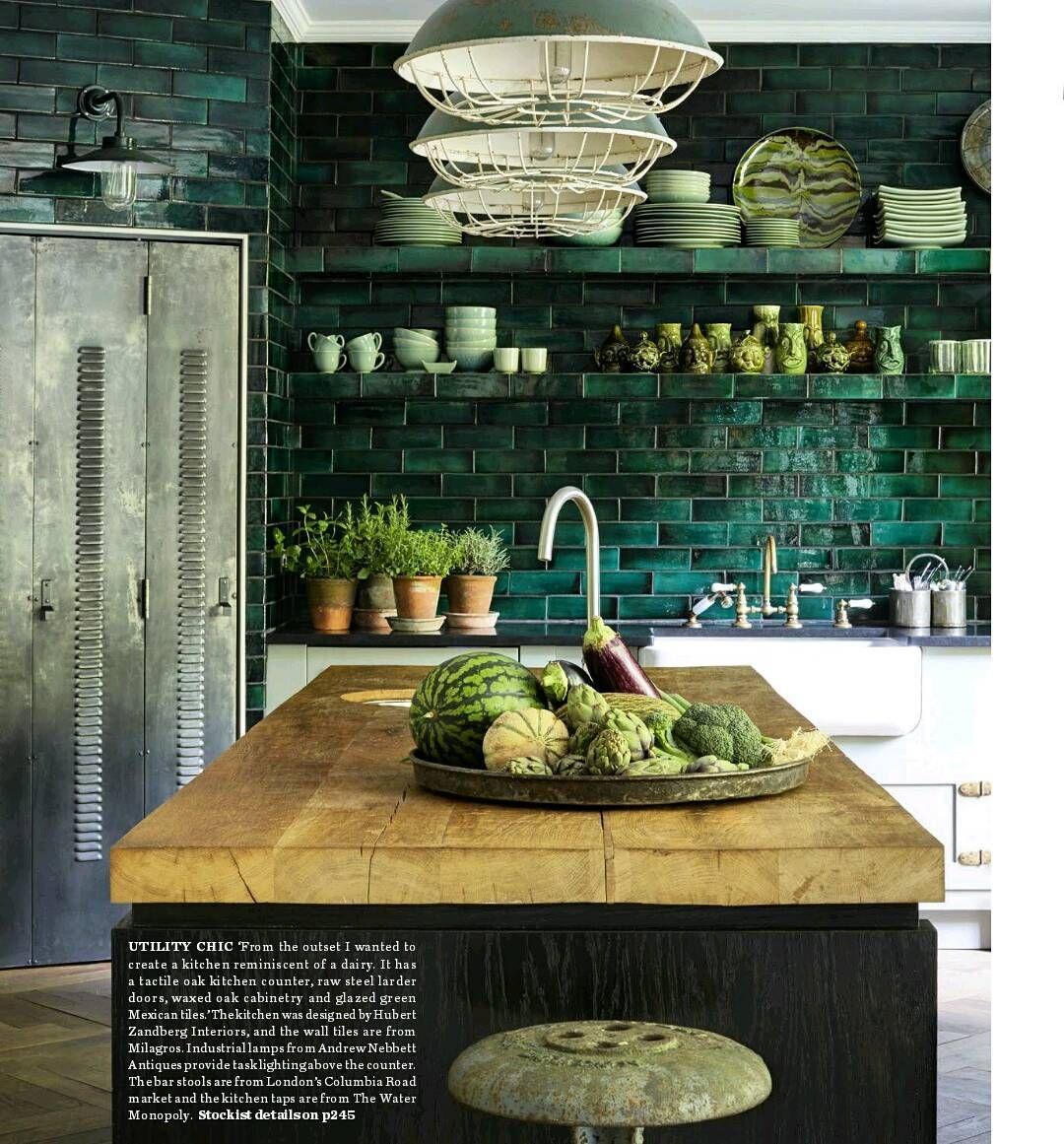 Green Kitchen Travels: ELLE Decoration April 2017 Milagros Tiles #milagros