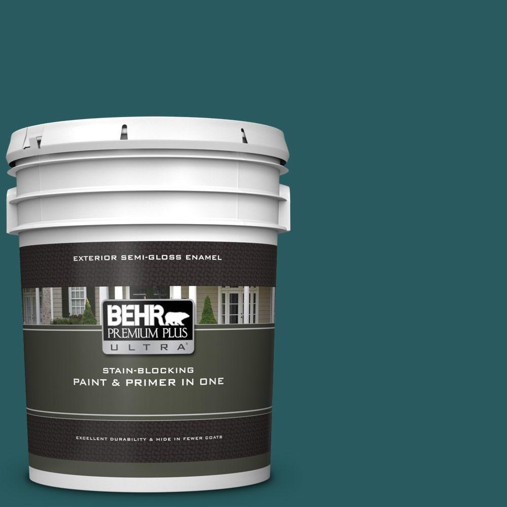 Behr Premium 1 Gal T 500 Natural Clear Transparent: BEHR Premium Plus Ultra 5 Gal. #S-H-500 Realm Semi-Gloss