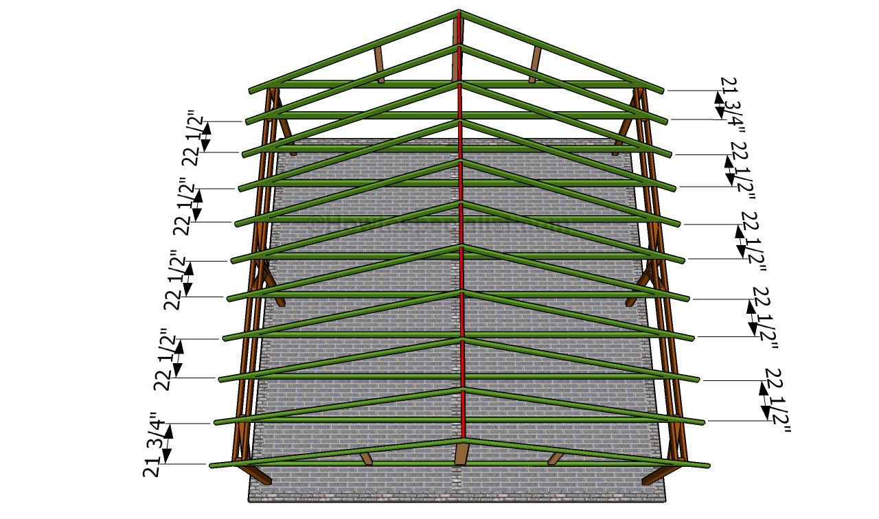 How to build a double carport Free standing carport