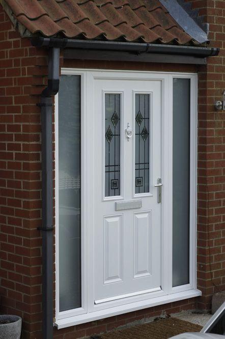 white front doorWhite uPVC front door  Exterior  Pinterest  Front doors Doors
