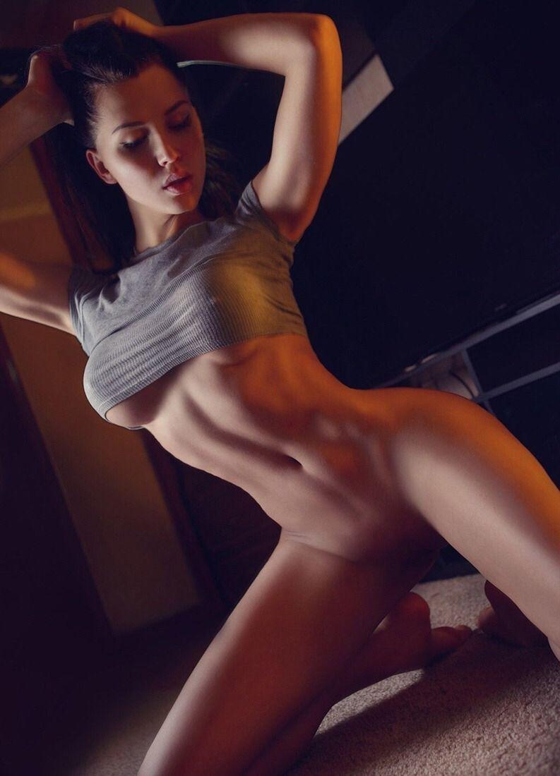 CHARLENE: Naked women with black background imagination