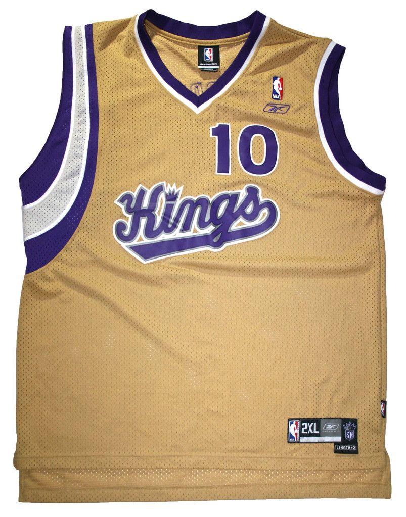 Gold NBA Sacramento Kings Mike Bibby  10 Jersey Mens Size XXL  35.00 ... bd1f1d95a