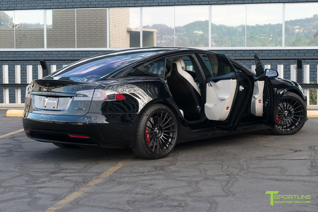 Tesla Model S Custom >> Black Tesla Model S With Bentley Linen Custom Leather