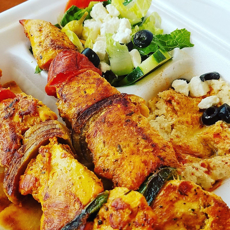 Chicken Kabob Lunchtime!! Chicken Kabob. ♡