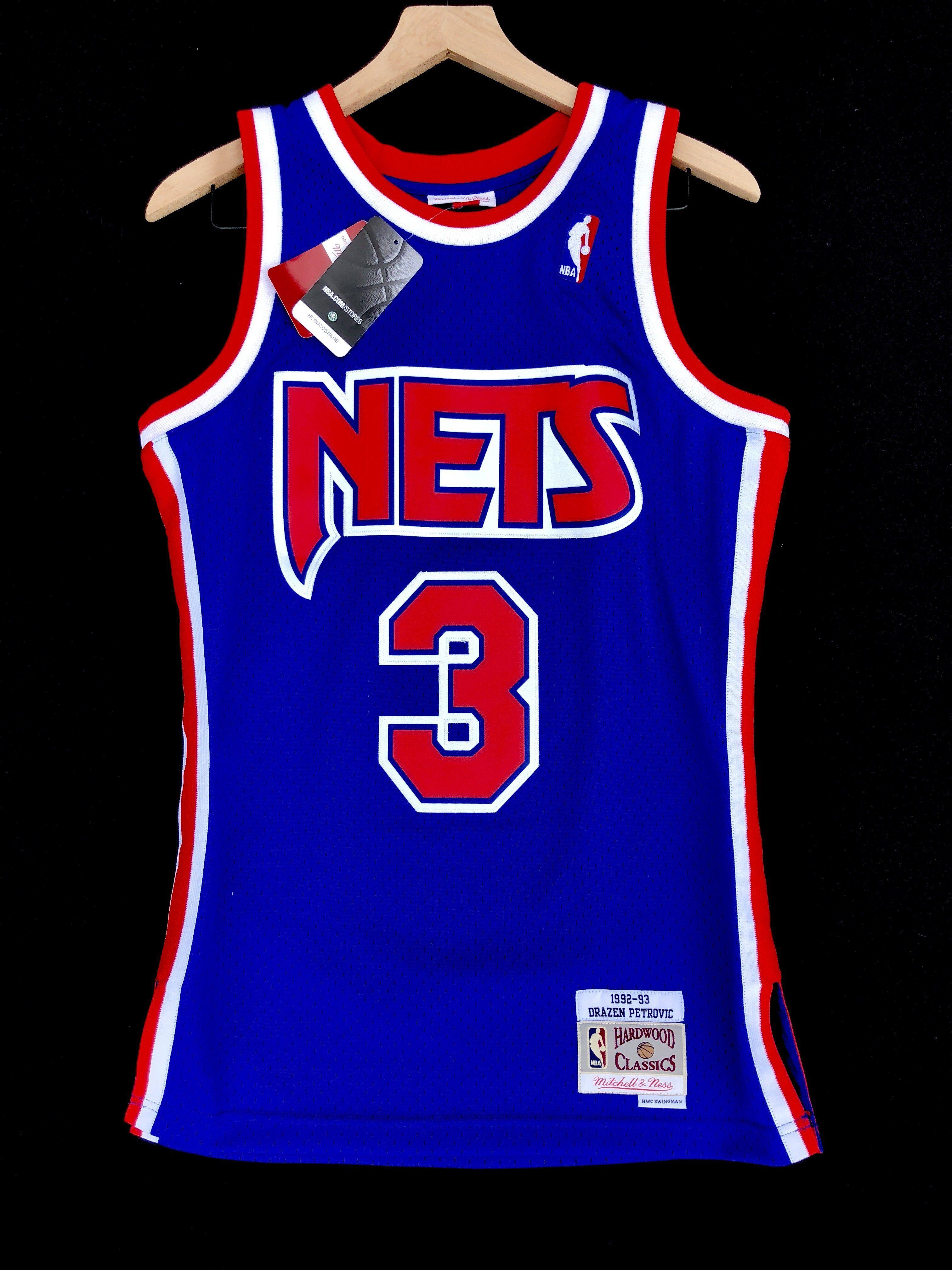 ce9a5c3efa2 Drazen Petrovic New Jersey Nets Mitchell & Ness NBA Jersey Small ...