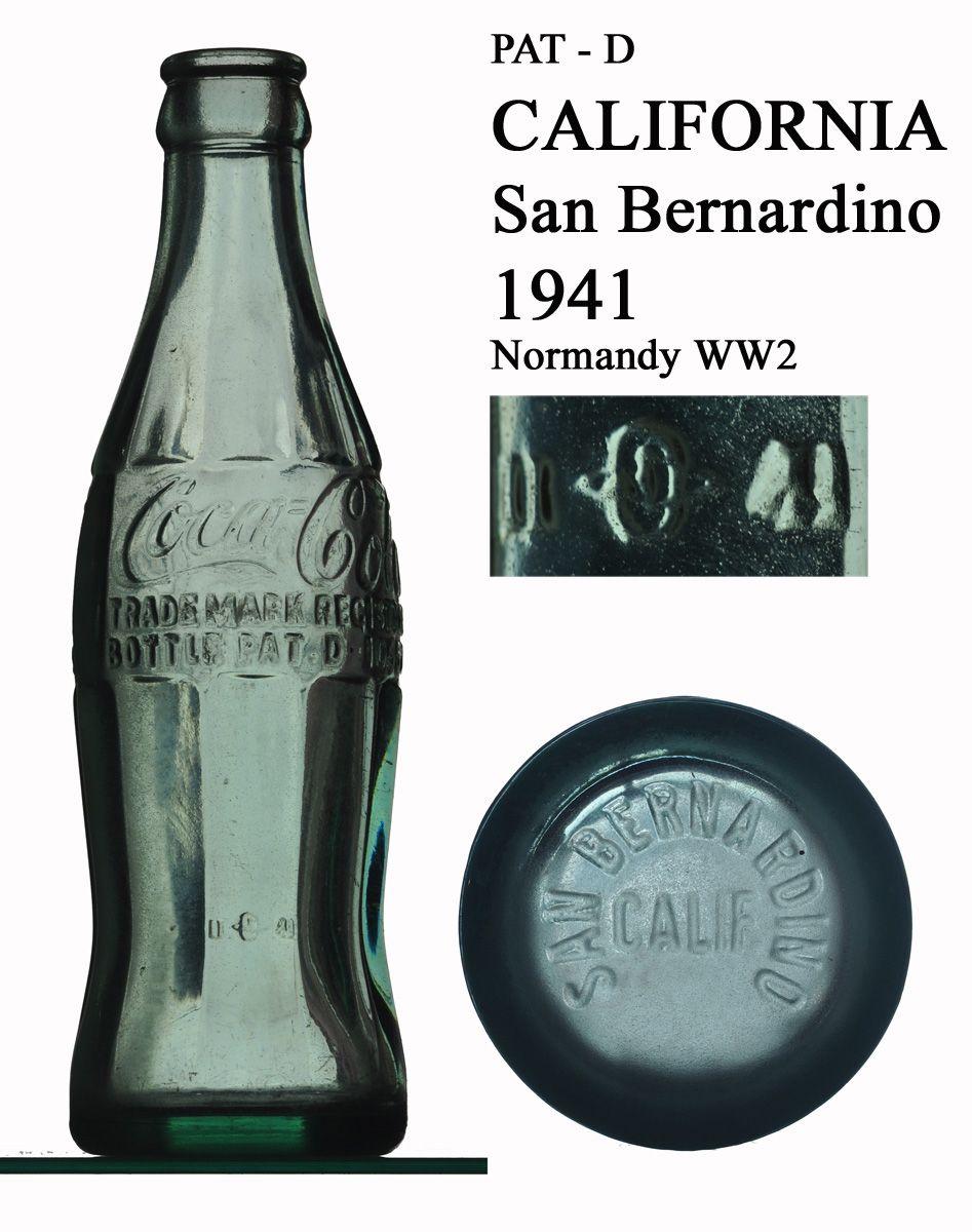 1941 Coca Cola bottle from San Bernardino CALIFORNIA found