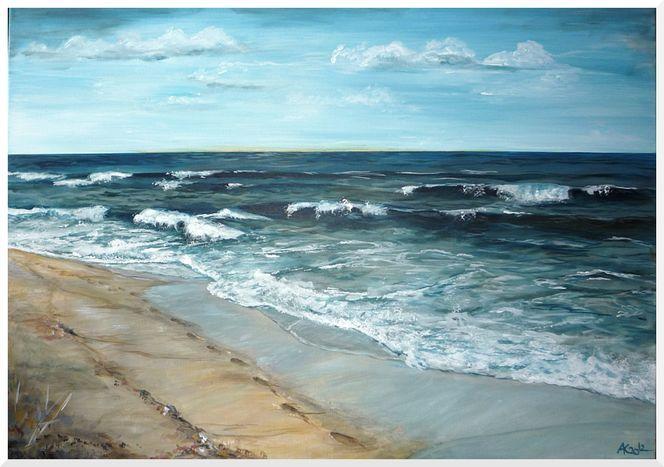 Meer + Strand Strand Malerei Malvorlagen