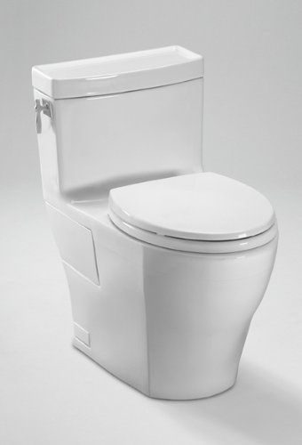 Aimes 1 28 Gpf One Piece High Efficiency Toilet With Sanagloss Toilet Toto Toilet One Piece Toilets