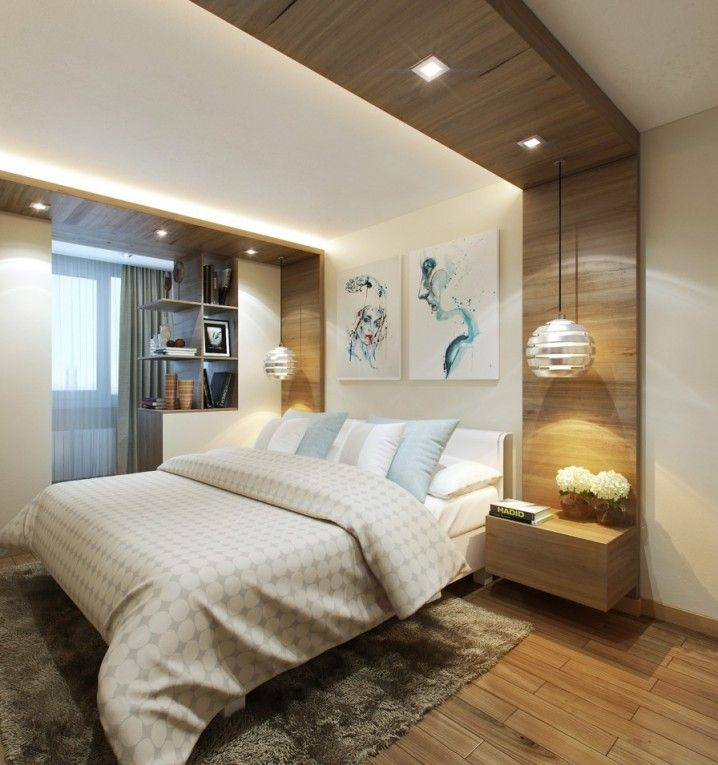Modern Bedrooms With Eye Catching Hanging Lamps