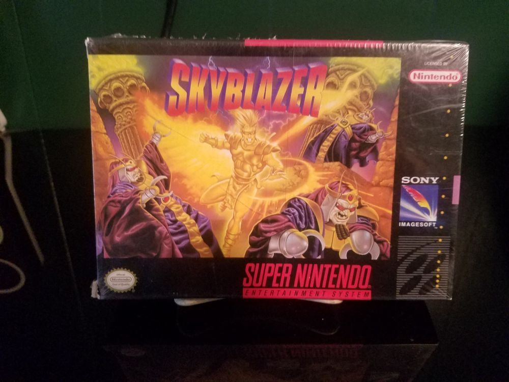 Skyblazer (Super Nintendo, SNES) Brand New and Sealed Open