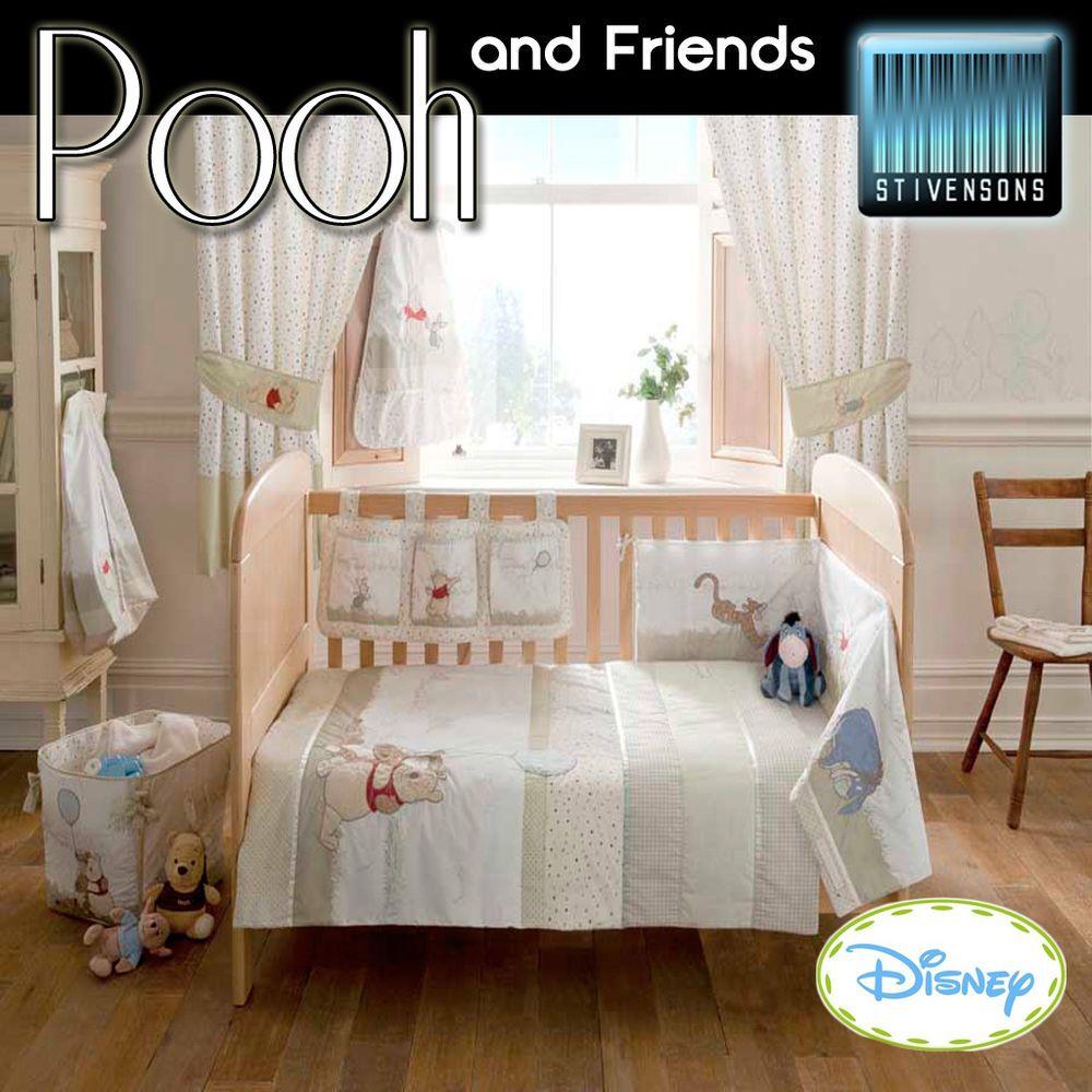 Disney Winnie The Pooh Nursery Bedding Cot Quilt Bumper