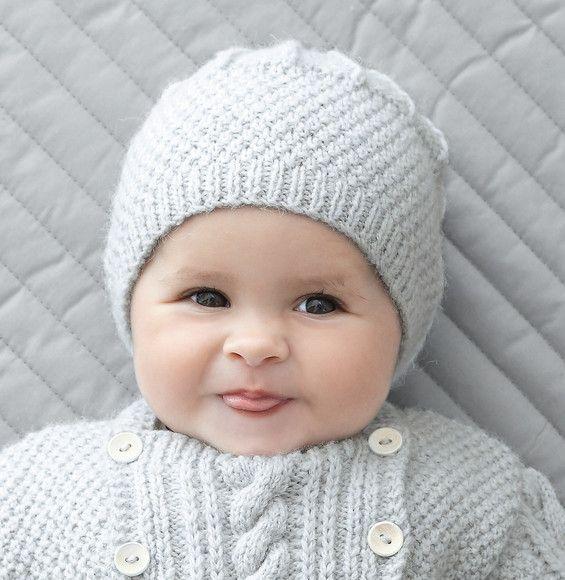 Modèle bonnet gris Phil Soft + - Modèles Layette - Phildar ... daba1590a67
