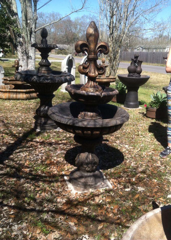 Customized Fleur De Lis Fountain