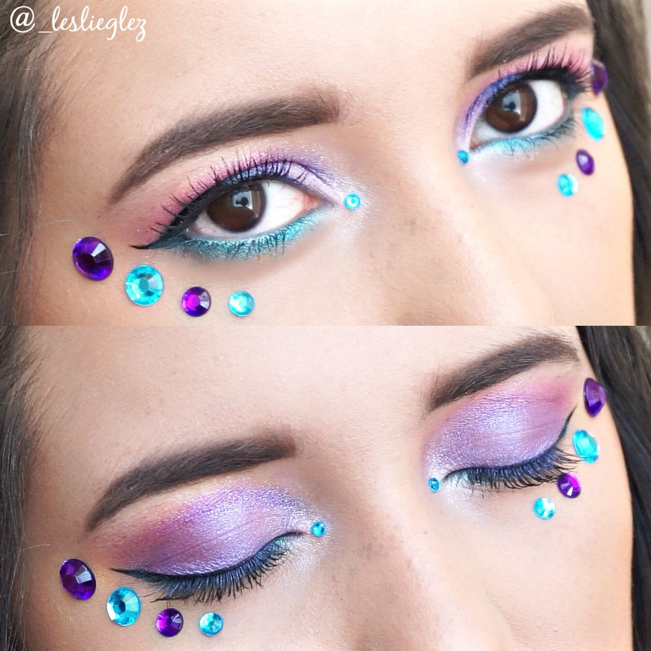 This is a galaxy/space inspired makeup look I created using the Urban Decay Spectrum palette! Subscribe to my YouTube channel (Leslie Gonzalez) or follow me on Instagram (_leslieglez) to see the full look!