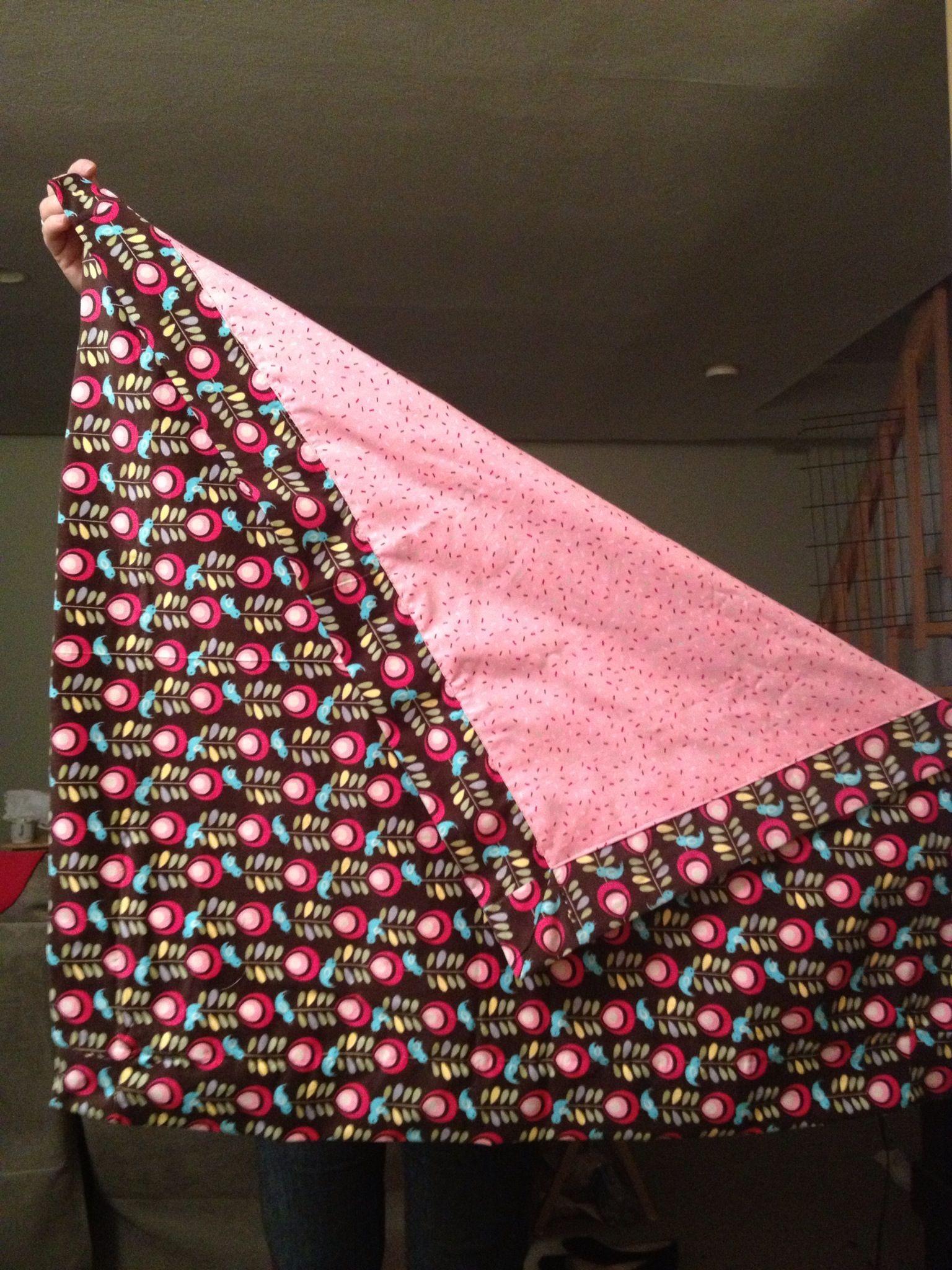 Self binding baby blanket sewing pinterest