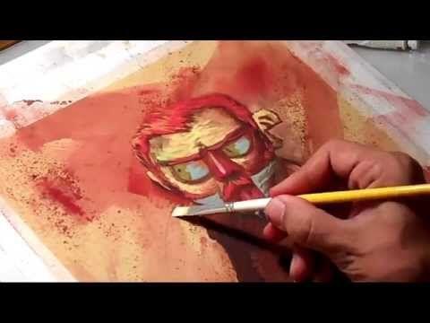 Pintura Relampago com Davi Calil - YouTube