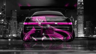 Superior Toyota Mark2 JZX90 JDM Back Anime Girl Samurai