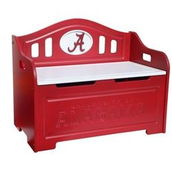 Elegant University Of Alabama Crimson Tide Bama Kids Furniture Storage Toy Bench
