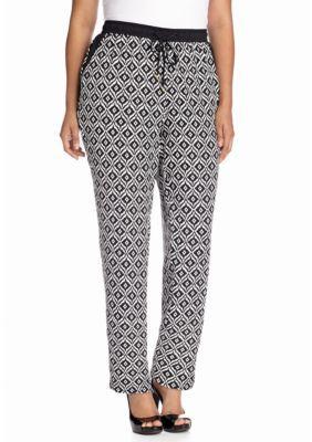 Jones New York Signature  Plus Size Soft Drawstring Pant