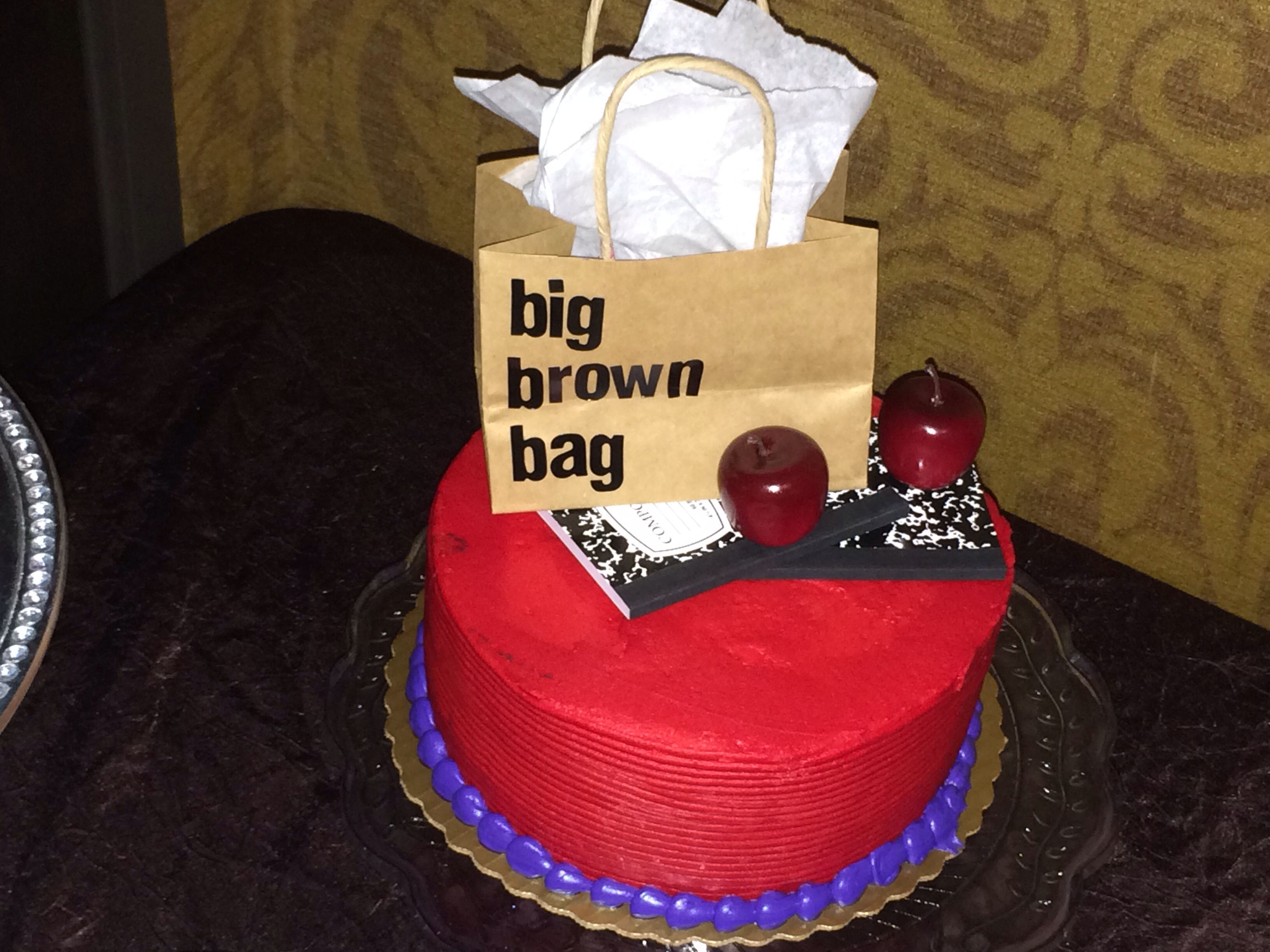 Teacher retirement cake for Bloomingdales shopper | Retirement Party ...