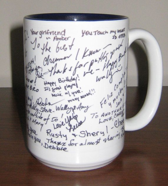 Personalized Mug with Signatures by PersonalGiftThing on Etsy, $20.00