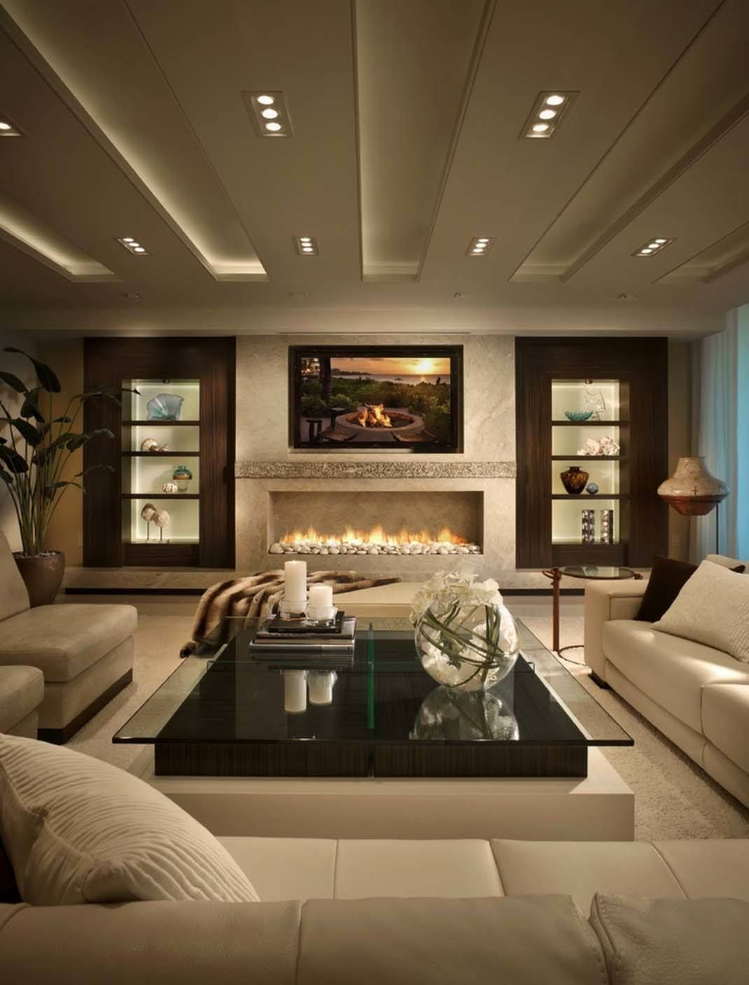 Impeccable Design Details In Luxurious Boca Raton Residence Living Room Decor Modern Contemporary Living Room Design Elegant Living Room Living room with fireplace decorating ideas