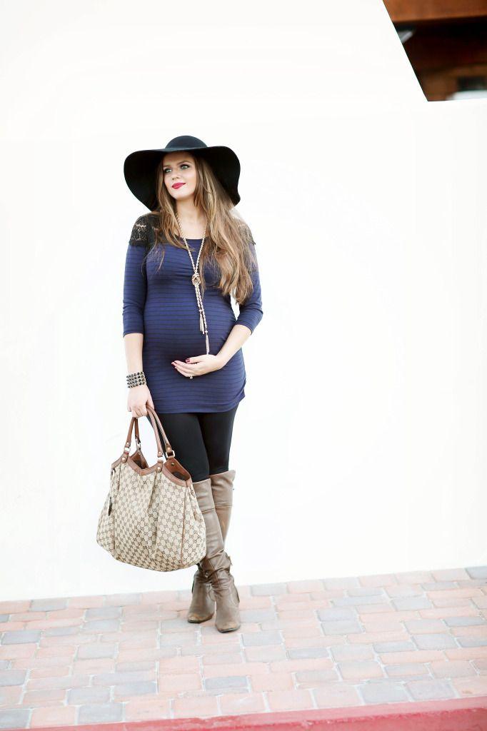 a7451ea0daded #BumpStyle // Lace Shoulder Striped Top & Leggings | BondGirlGlam.com