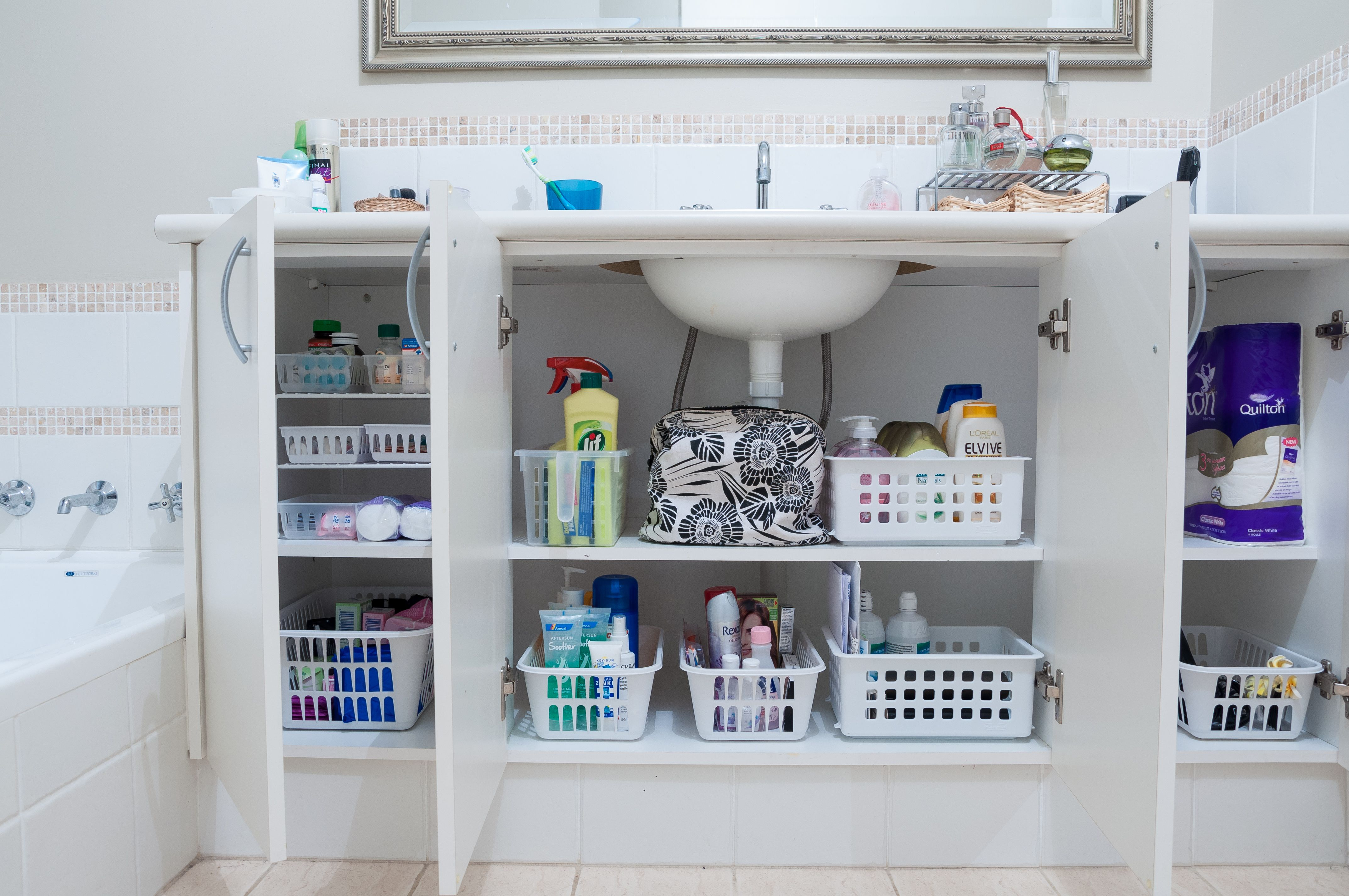 Organised Bathroom Cupboards By Nordic Planning Professional Organiser In Perth Australia W With Images Bathroom Organisation Organisation Hacks Cupboards Organization