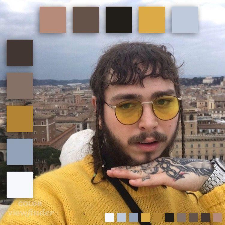 Post Malone Cute: Post Malone Yellow Aesthetic