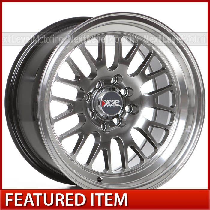 XXR 531 15x8 4x100 +0 Chromium Black Wheels Rims Honda Civic
