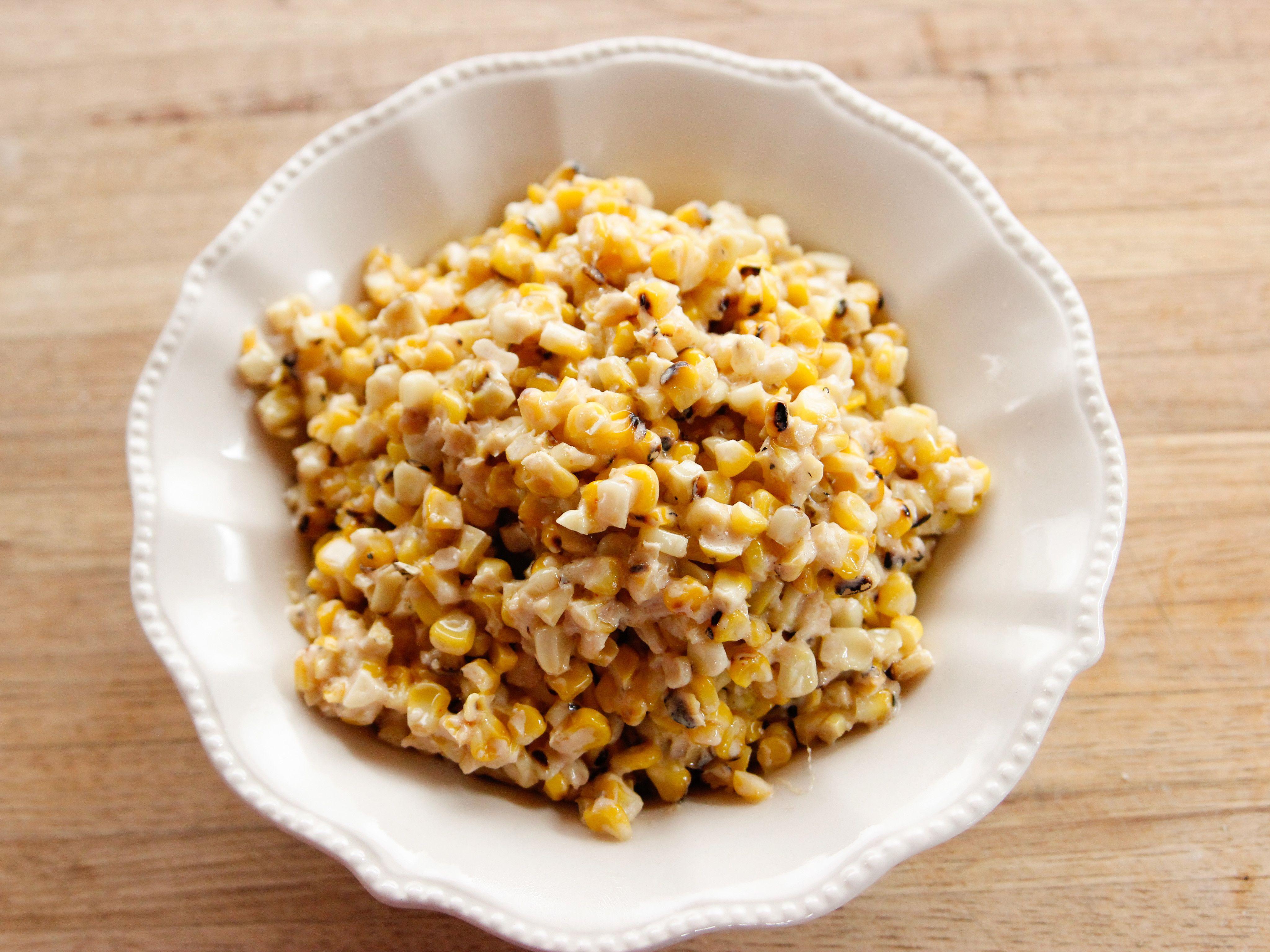 Grilled Corn Casserole #hominycasserolepioneerwoman