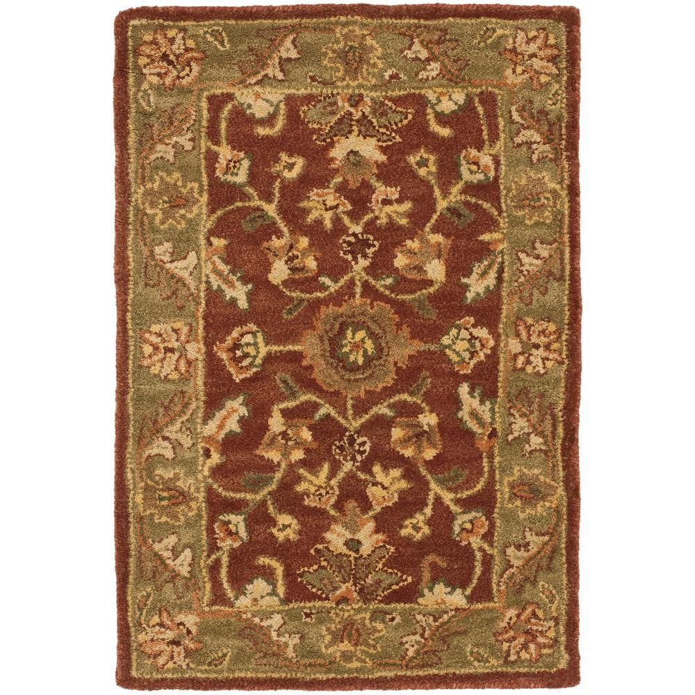Safavieh Golden Jaipur Rust Green 2 Ft X 3 Ft Area Rug Rugs