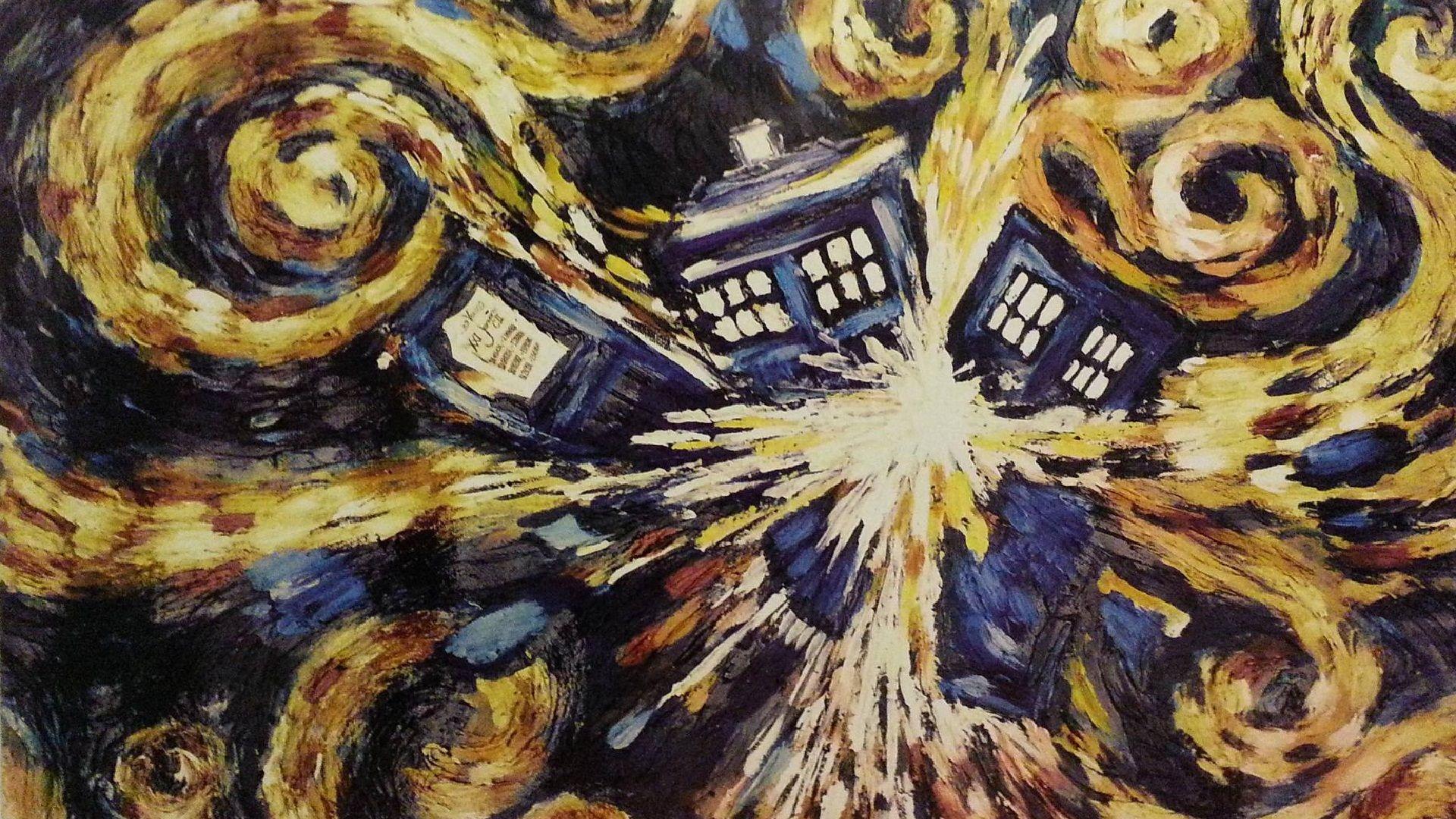 Dr. Who Exploding Tardis Desktop Backgrounds