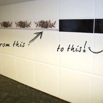 Need To Cover Up The Cheesy Deck Of Cards Tiles In My Kitchen. Easy Cover  Up For Ugly Bathroom Tiles. Use Mactac To Keep It On The Walls And It Is  Easy ...