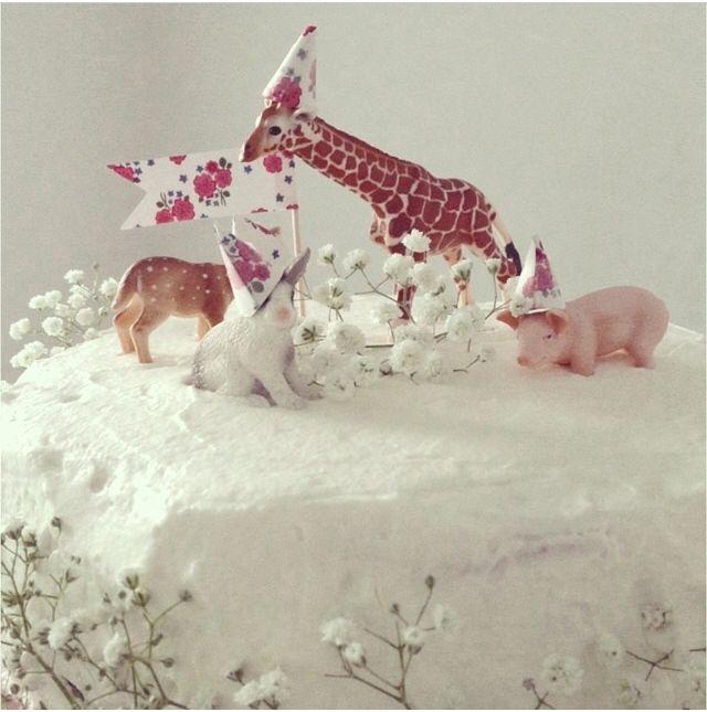 bolo de anos animais
