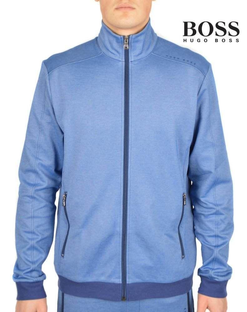 e87ee2e0 HUGO BOSS Men's Leisure Zip Track Suit Jacket Sweater Blue Top Large NWT  $119 #HUGOBOSS #TrackJacket
