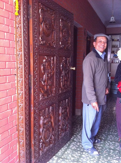 Captain Shrestha, at the front door. :)