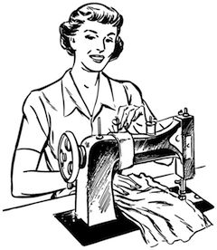 Looks alot like my sewing machine--a 1959 Singer. My