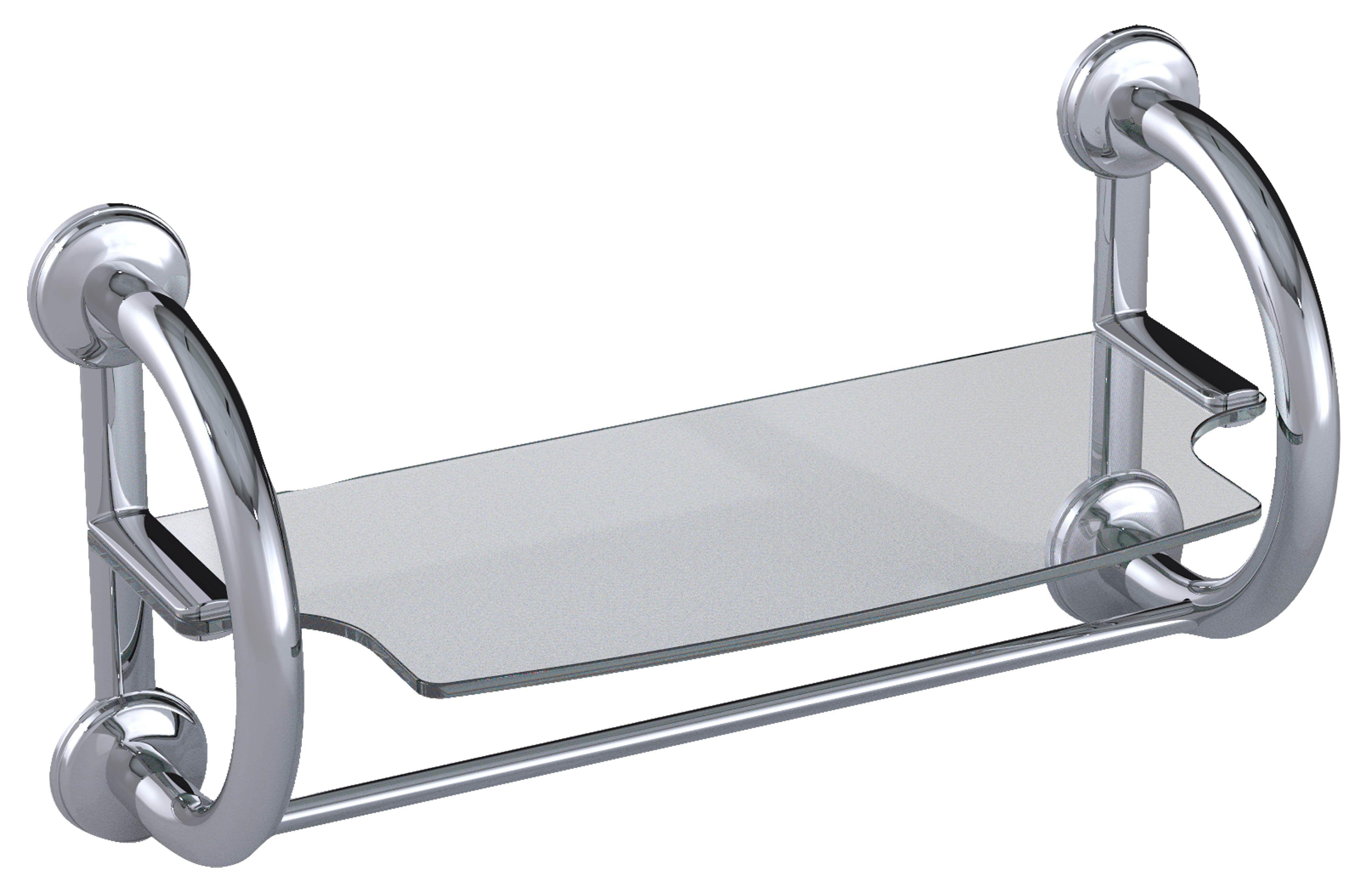 Grabcessories in grab bar towel shelf aging in place bathrooms