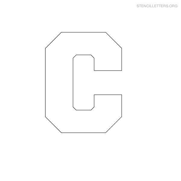 Print Free Stencil Letters C | camp stencils | Pinterest | Stencil ...