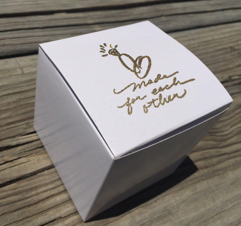 10 gold embossed cupcake boxes, wedding Cupcake box, wedding favor ...