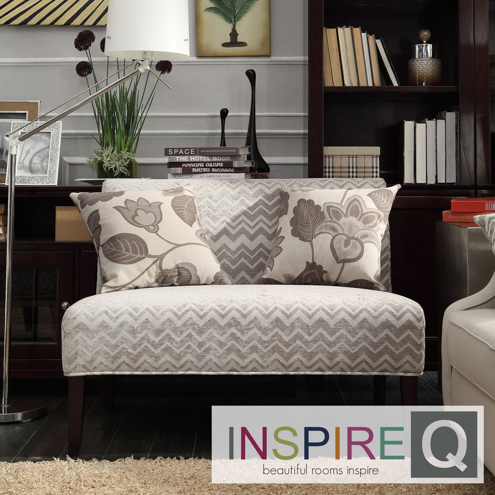 Kayla Hip Chevron Stipe Armless Loveseat | Overstock.com Shopping - The  Best Deals on