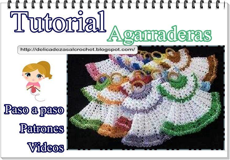 Delicadezas en crochet Gabriela: Tutorial : Vestiditos agarraderas ...
